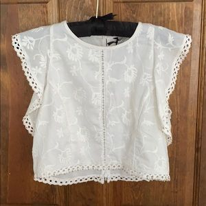 White embroidered summer top